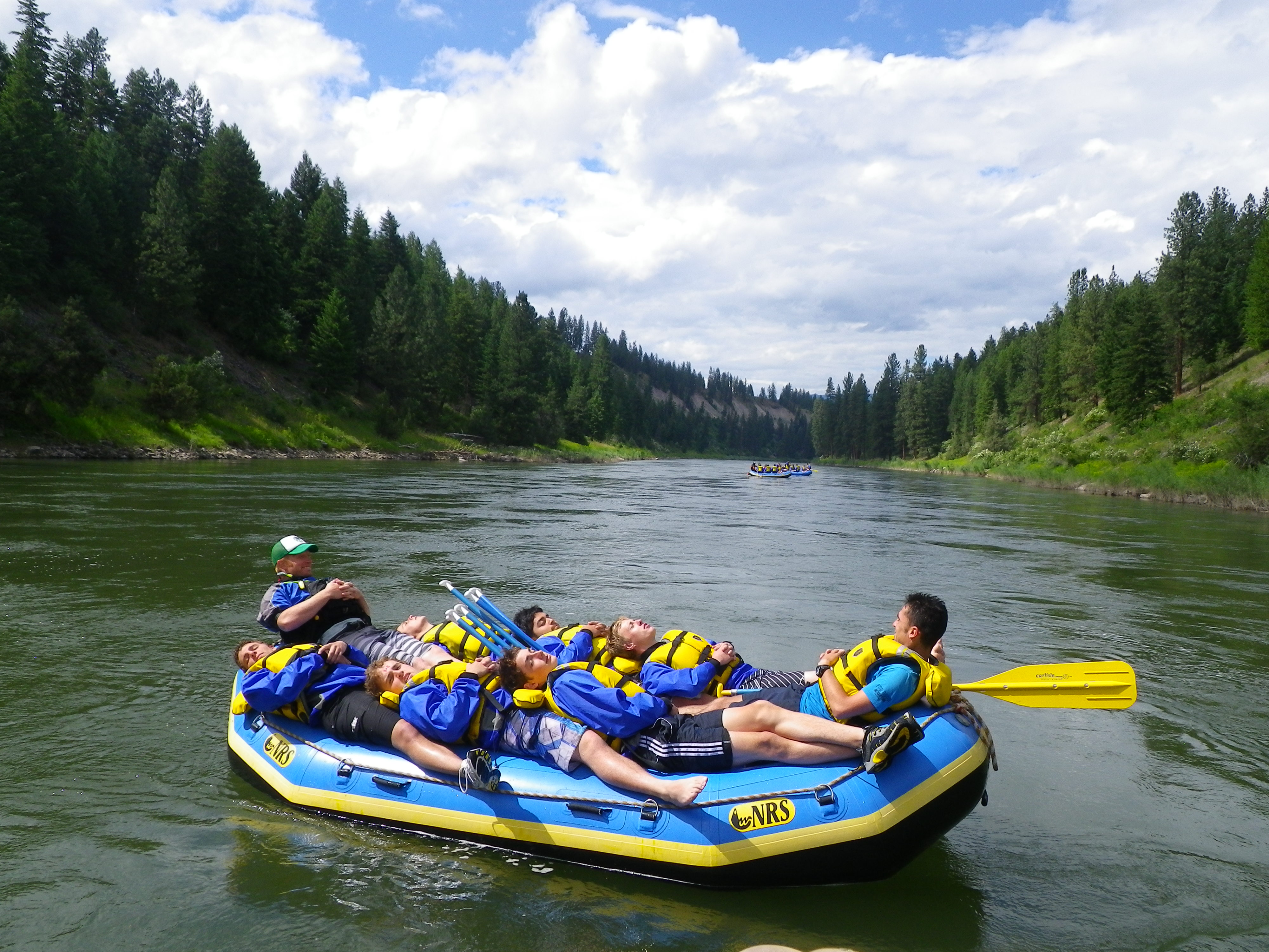 Rafting down the Clark Fork